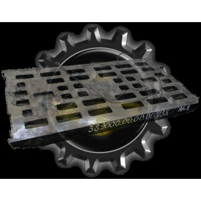 Плита дробящая 38.9000.00.00.00.733 на дробилки SANDVIK, изготавливается из стали 110Г13Л, отливка м/о.