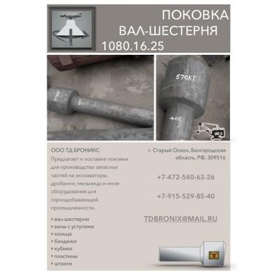поковка вал-шестерня 1080.16.25 (ЭКГ-5)