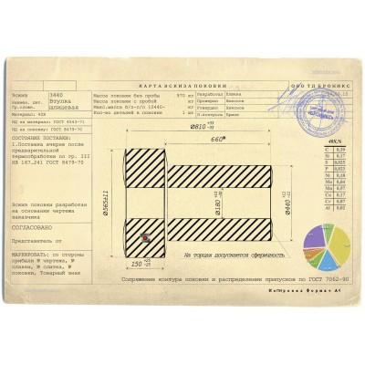 Втулка шлицевая  3440.03.051 поковка СМД-111