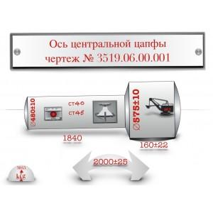 цапфа центральная 3519.06.00.001 поковка